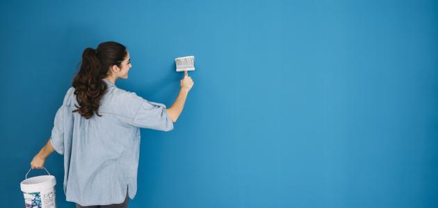 طريقة دهان الحوائط