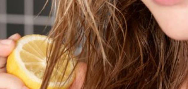 تفتيح الشعر بالليمون