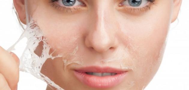 وصفات لتقشير الوجه
