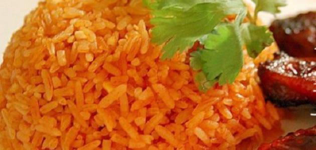 طريقة ومكونات الأرز
