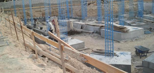 مراحل البناء بالترتيب