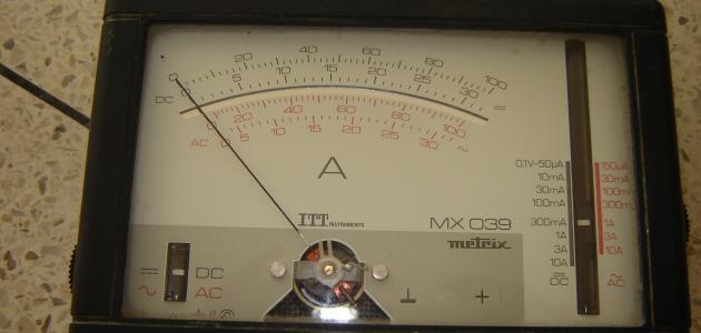 وحدة قياس شدة التيار