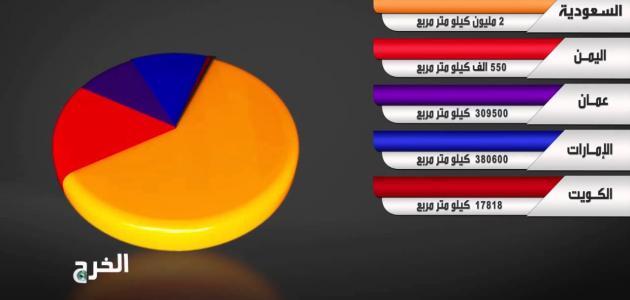 ما هي أكبر دولة عربية من حيث المساحة