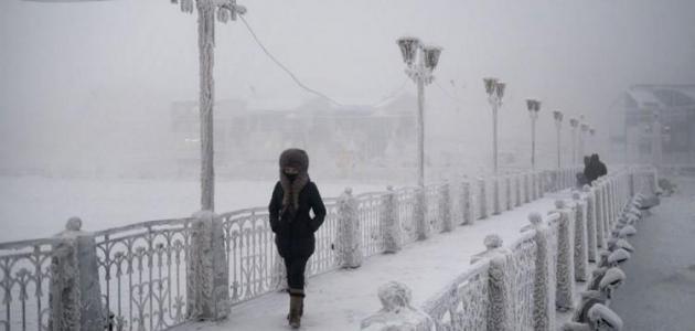 أقل درجة حرارة سجلت في العالم