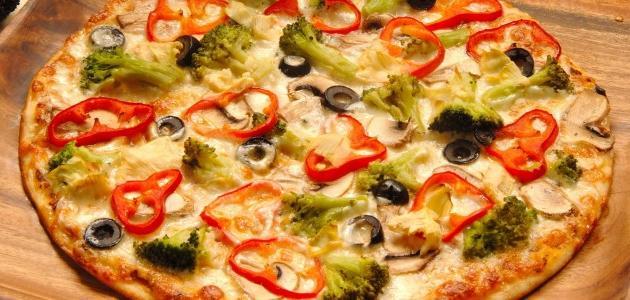 طرق عمل البيتزا بالخضار