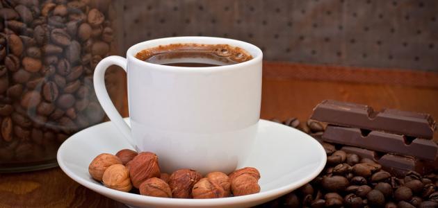 طريقة القهوة الفرنسية بالبندق