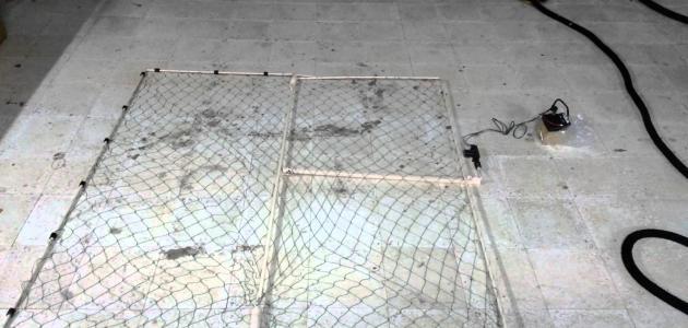 كيف تصنع شبكة صيد الحمام