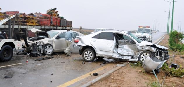 تقرير عن حادث مروري