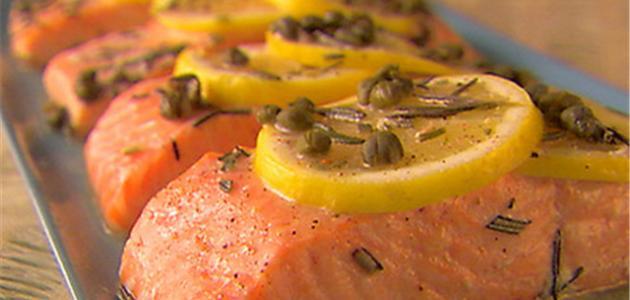 طبخ سمك السلمون