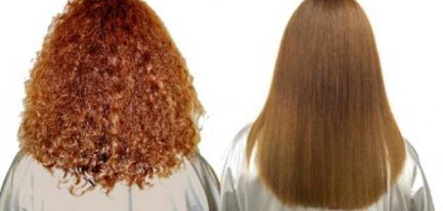 طرق فرد الشعر بالنشا