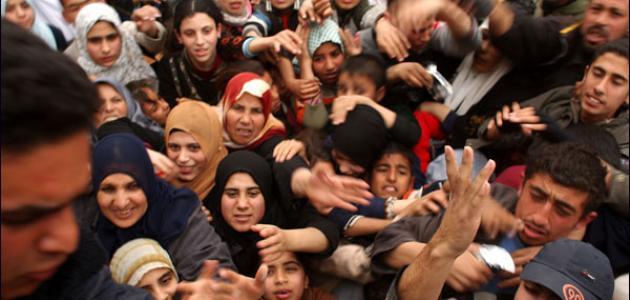 عدد سكان غزة